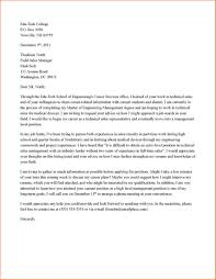 Business Letter Examples For Students Sample Networking Format