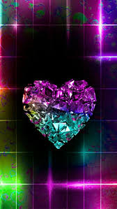 colorful heart wallpapers. Contemporary Wallpapers Colourful Heart On Black Bckgrd Inside Colorful Heart Wallpapers H