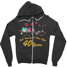 40th wedding anniversary gifts shirt owl couple t shirt zipper hoo