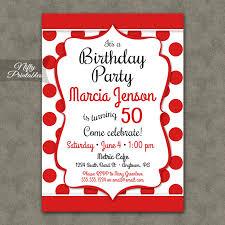Fun Red White Birthday Invitations Nifty Printables