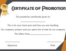 Promotion Certificate Template Job Promotion Certificate Template Promotion Certificate Template