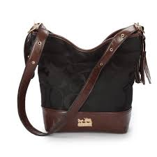 Best Style Coach Legacy Duffle In Printed Signature Medium Black Crossbody  Bags Ace Outlet 4kMdm