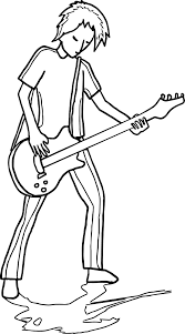 Small Picture Guitarist Playing The Guitar Coloring Page Wecoloringpage
