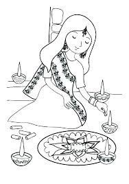 Indian Girl Coloring Page Rl Coloring Page Color Pages Native In