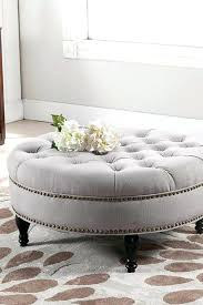 round ottoman coffee table upholstered round tufted storage ottoman medium size of coffee ottoman coffee table