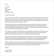 Samples Of Letters Of Recommendation For College Free Letter Of Recommendation Examples Samples Free