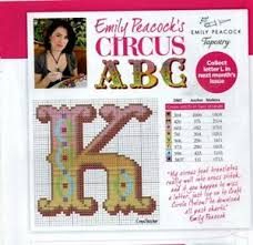 Emily Peacock Charts Details About Cross Stitch Tapestry Chart Emily Peacocks Circus Abc Letter K
