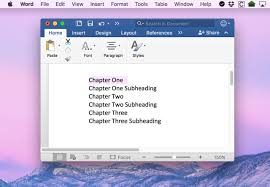 How To Create A Table Of Contents In Word 2016 For Mac