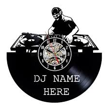 Record Gifts Unique Dj Name Design Vinyl Record Wall Clock Gift Personalized