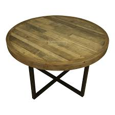 Dalat Industrial Round Dining Kitchen Table Reclaimed Wood Round Dining Table