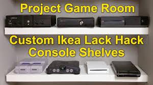 Ikea Lack Shelf Hack Project Game Room Vlog 02 Custom Ikea Lack Hack Youtube