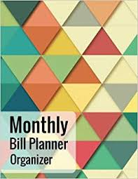 Monthly Bill Planner Organizer With Calendar 2018 2019 Bill