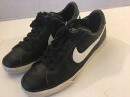 nike brs black clic leather sneakers