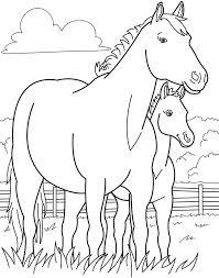 Mare And Foal Coloring Pages At Getdrawingscom Free For Personal