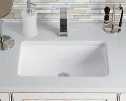 undermount porcelain sink. Plain Sink U1913White With Undermount Porcelain Sink MR Direct