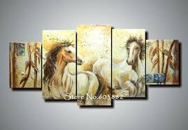 horse canvas wall art wall art handmade abstract horse canvas painting 5 piece canvas art horse canvas wall art