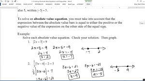 1 6 absolute value equations and inequalities you