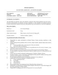 Accounting Assistant Job Description Resume Medical Assistant