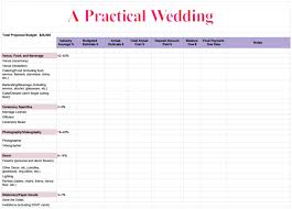 wedding spreadsheet how to create a perfect for you wedding budget a practical wedding