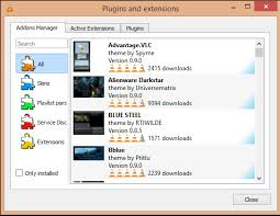 Now you can peruse VLC extensions inside the program.