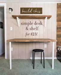 simple diy wall desk shelf brackets