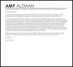 Sample Art Teacher Cover Letter Art Instructor Cover Letter Sample Cover Letter Templates