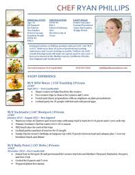Chef Resumes/cv Samples — Super Yacht Resume