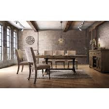 dasher 7 piece removable leaf table with nail head chair dining set