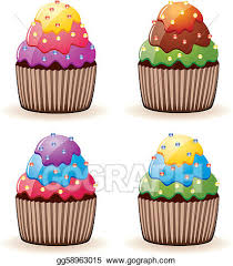 cupcakes with sprinkles clipart. Contemporary Clipart Colorful Cupcakes With Sprinkles And Cupcakes With Sprinkles Clipart S