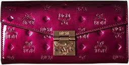 Patricia Patent Flap Wallet Bifold Large