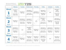 p90x extreme home fitness nutrition plan inspirational starting this today body beastâ focus t25â hybrid workout page 1