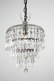 glass prism chandelier sold petite antique three tier crystal chandelier with glass prisms rectangular glass prism