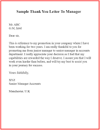 Thank You Letters To Boss 15 Sample Format Of Thank You Letter Template To Boss