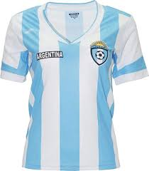 Argentina New Arza Women Jersey Blue White 100 Polyester