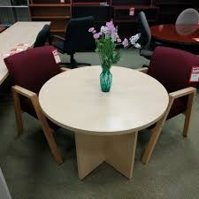 round meeting table huddle collaboration light