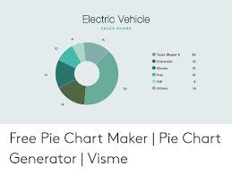 Free Pie Chart Generator Electric Vehicle Sales Share 14 10 Tesla Model S 39 16 15 10