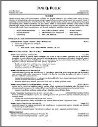 media-and-communications-resume-entry-level