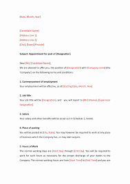 Job Appointment Letter Format In Word Amazing Resume Microsoft