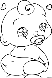 7 valentine's day coloring pages for your little cupid. Cute Baby Boy Cartoon Face Coloring Pages Printable