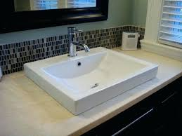 semi recessed bathroom sink white semi recessed sink set in honed tops contemporary bathroom semi recessed bathroom sink