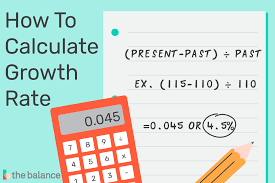 how to calculate the year over year growth rate
