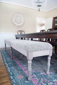 upholstered dining bench with back diy
