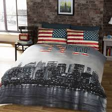 new york city bedding single duvet cover sets usa skyline