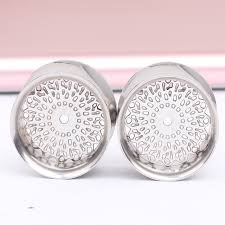 Dream Catcher Tunnels Hot Sale Ear Plugs Stainless Steel Dream Catcher Flower Double 87