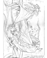 Small Picture Fantasy Coloring Pages For Adults Freebie Mermaid Colouring