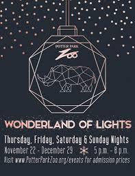 Wonderland Of Lights Lansing Mi Potter Park Zoo To Kick Off 25th Annual Wonderland Of Lights