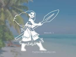 moana vinyl decal disney hawaiian