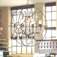 metal orb chandelier with crystals black amusing crystal replica