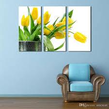 yellow tulip wall art