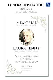 Funeral Invitation Template Extraordinary Obituary Card Template Eulogy Funeral Invitation Templates Free
